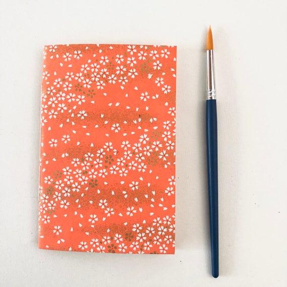 Carnet de notes, de voyage ou à dessin papier japonais motifs fleurs