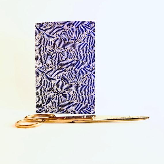 Carnet de notes, de voyage ou à dessin papier japonais motifs vagues