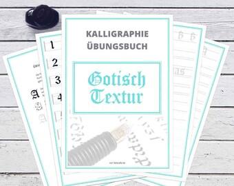 Kalligraphie Übungsbuch - Gotisch Textur | Digitalversion