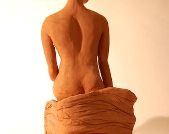 Meet Hope - a beautiful seated clay figurine based on a live model