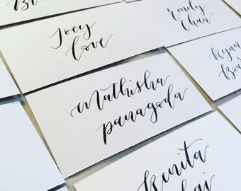 Wedding / event handwritten calligraphy place cards