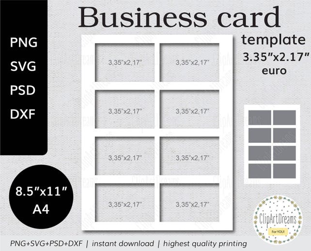 335x217 business card template euro instant etsy image 0 cheaphphosting Images