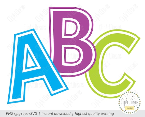 Outline Font SVG Outlines Font Alphabet Svg Files Clipart