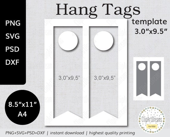 3x9.5 Wine Bottle Hang Tag template PNG PSD Formats table | Etsy