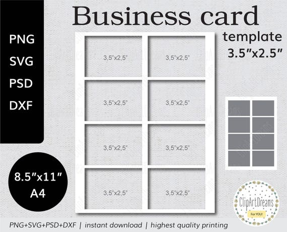 35x25 business card template mighty instant etsy image 0 friedricerecipe Image collections