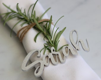 Wooden personalised wedding Place Names