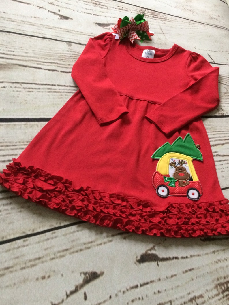 cce01a315e6 Embroidered Christmas Dress Monogrammed Christmas Dress