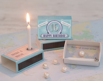 Happy 16th Birthday In A Matchbox Cards Gifts Sweet 16 Gift Sixteenth For Her