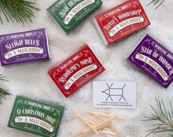 christmas matchstick puzzles alternative christmas crackers christmas table favours stocking filler stocking stuffer