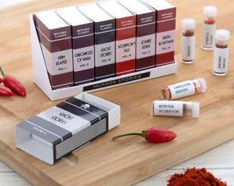 Novelty Super Hot Chilli Gift Set, World's Hottest Chilli Powders, Foodie Gift, Secret Santa, Gift For Him