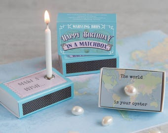 Happy Birthday In A Matchbox Gifts For Her Card Best Friend Gift 21st 18th