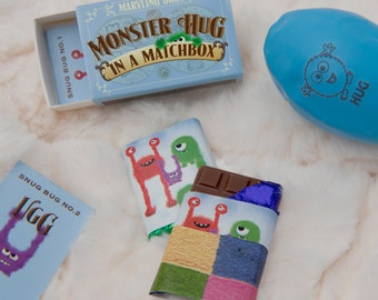 Monster Hug Chocolate Gift In A Matchbox, Thank You Gift - I'm Sorry Gift, Thank You Cards, Get Well Gift, Best Friend Gift, Teacher Gifts