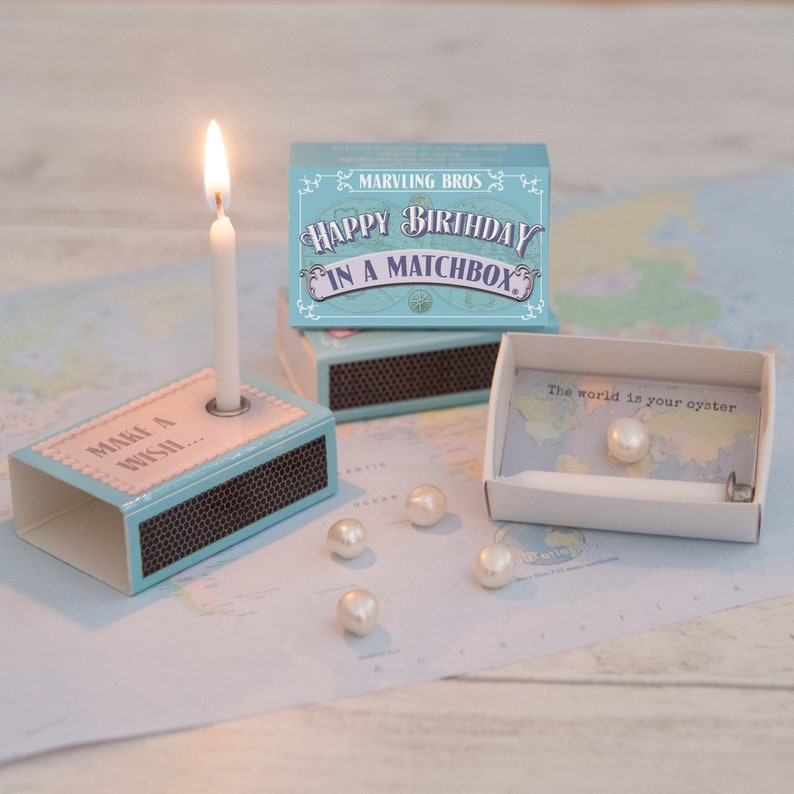 Happy Birthday In A Matchbox Gifts For Her