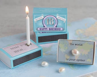 Happy 18th Birthday Gift For Her In A Matchbox, 18th Birthday Card, Pearl, Birthday Gift, Best Friend Gift, Gift For Daughter, Sister Gift
