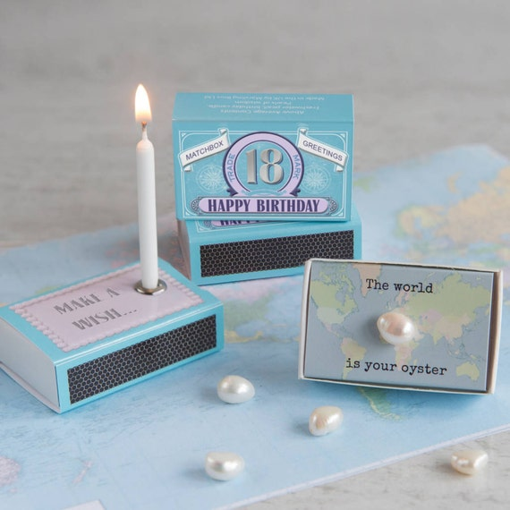 Happy 18th Birthday Gift For Her In A Matchbox