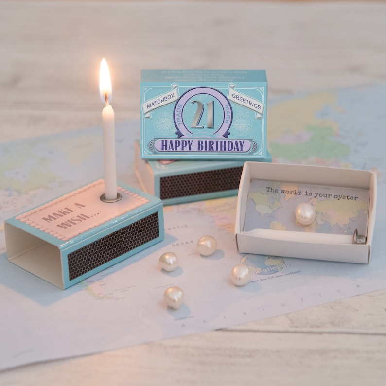 Happy 21st Birthday Gift For Her In A Matchbox