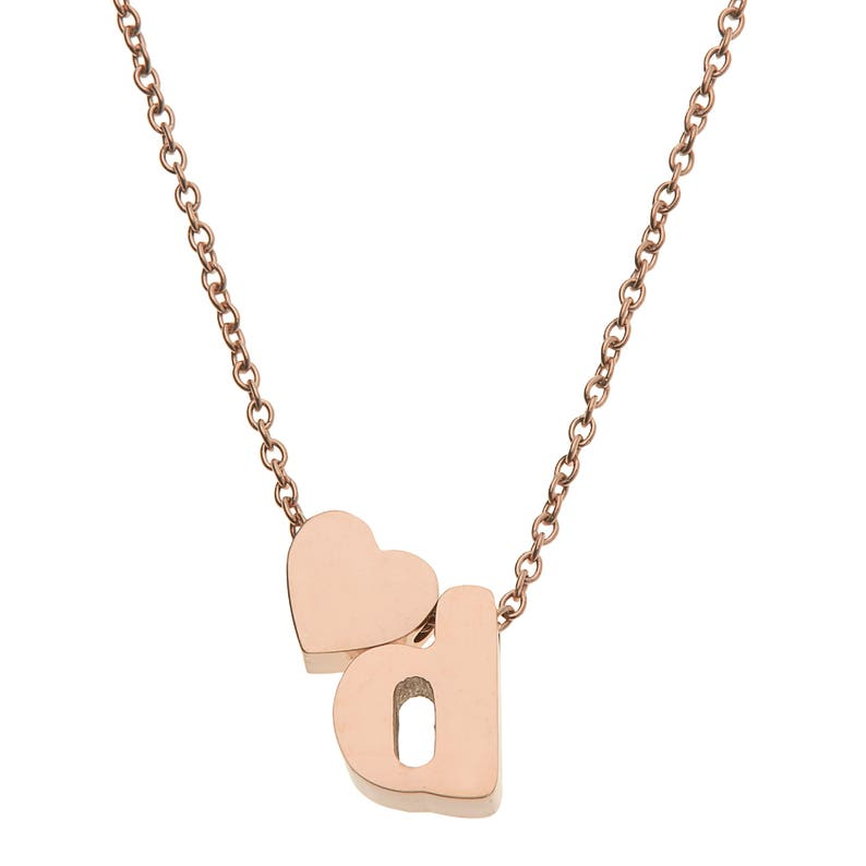 High Polished Stainless Steel Initial Pendant Necklace with 18 Chain