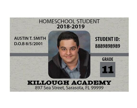 Homeschool Student Custom Identification Card ID