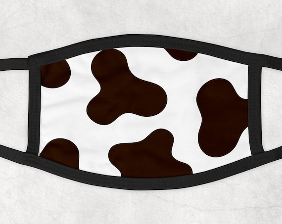 Cow Pattern Face Mask Face Cover