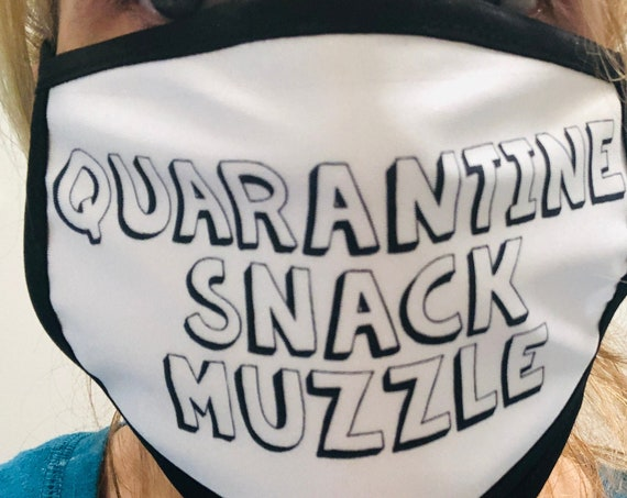 Quarantine Snack Muzzle Funny Face Mask Cover