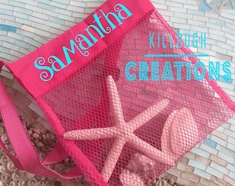 Shell Bags Kids Shell Bags Net Shell Bags Girls Shell Bag Boys Shell Bag Collect Shells Net Bag Net Shell Bag Monogrammed Shell Bag