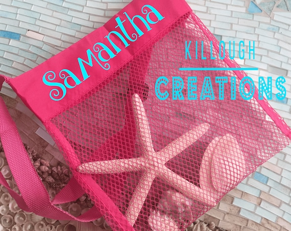 Shell Net Beach Bag for Kids
