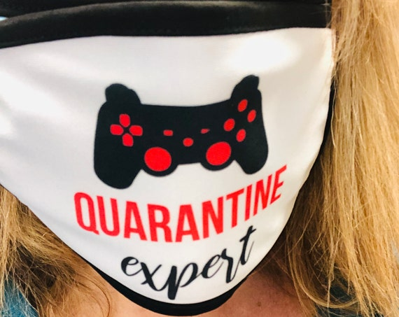 Quarantine Expert Video Game Controller Face Mask Cover