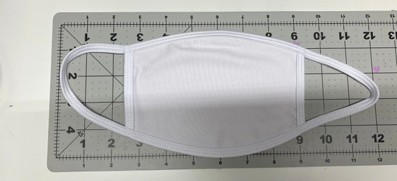 Blank Sublimation White Mask with Filter Pocket