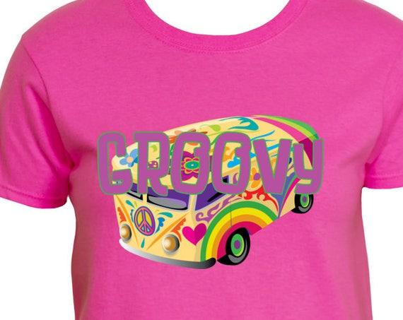 Groovy Retro Hippy Bus T-Shirt