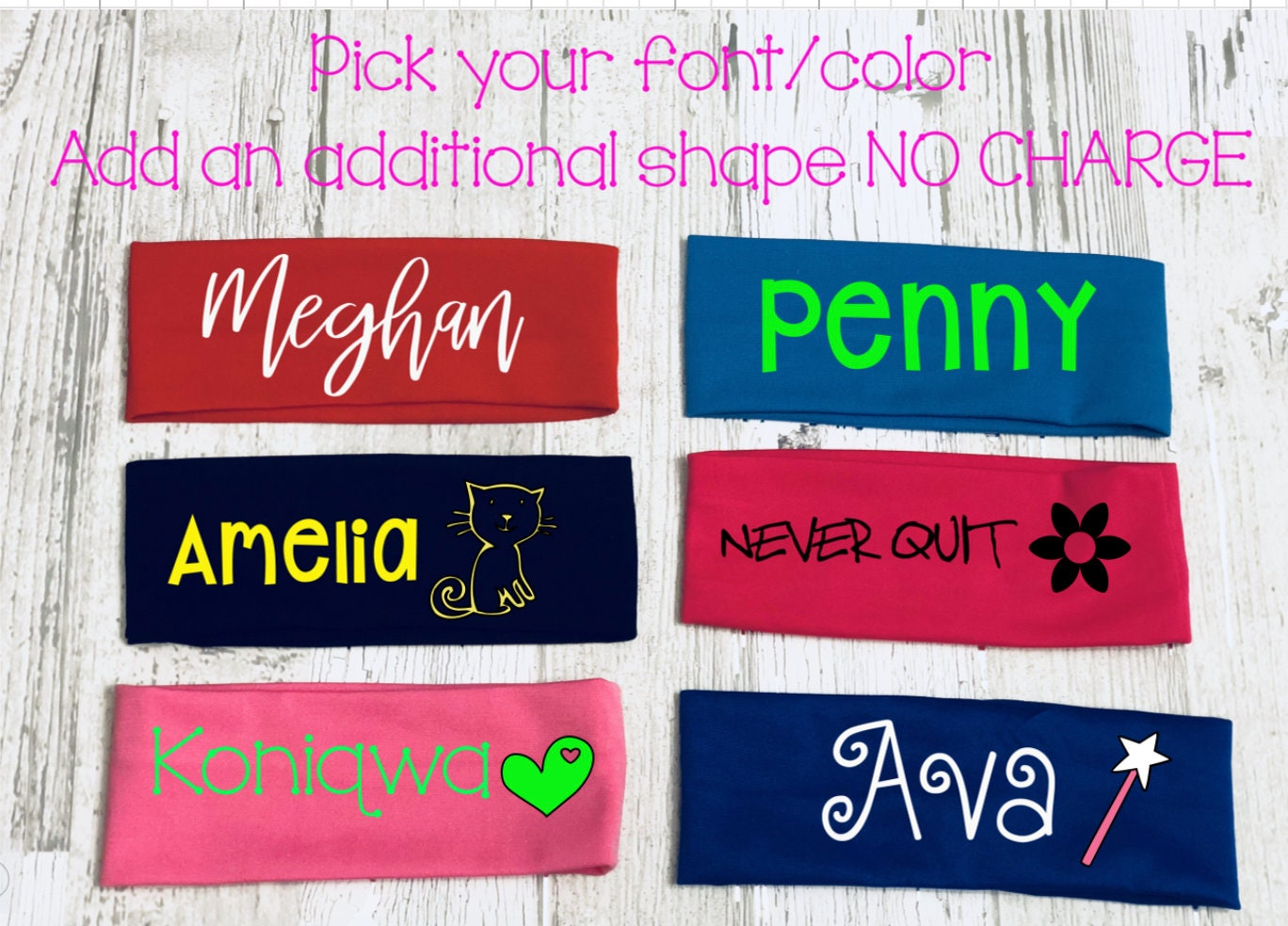 Personalized Headbands One Size Fits All