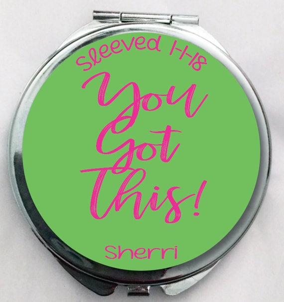 Weight Loss Surgery Gift Compact Mirror you got this sleeved present Gastric Sleeve Gift Personalized Mirror Weight Loss Sleeve Gift Weight