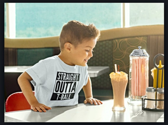 Straight Outta T-Ball Personalized T-Shirt Kids Youth T Ball Shit Tee-ball practice youth t-shirt Boys t ball shirt girls white t ball shirt