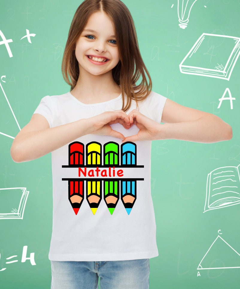 il_fullxfull.1581000539_bx06 back to school colored pencil shirt with name youth back to school
