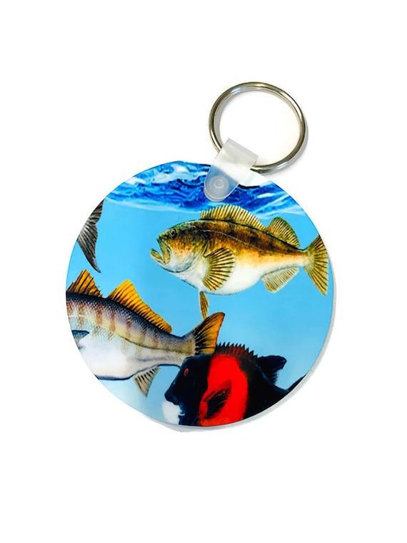 Custom Deep Sea Fish Under the Sea Keychain