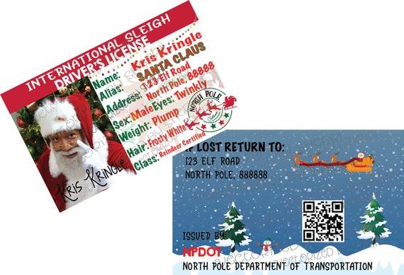 International Black Santa Claus Kris Kringle Driver License