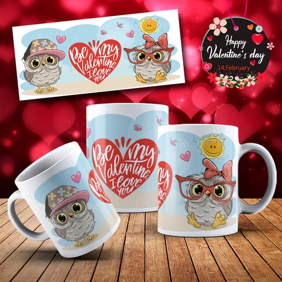 OWL Lover  Happy  Valentines Day Gift Mug Coffee Cup
