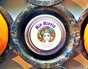 Organic Lip Balm for Sacral Chakra + Soul Healing + Beauty + Affection + Soft Lips | Citrus Kiss