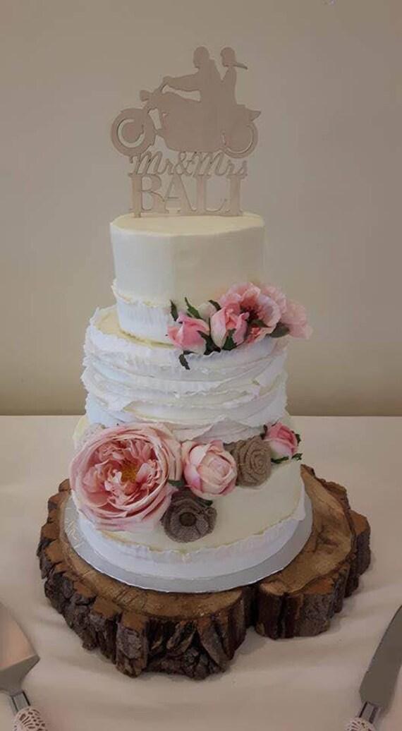 Mr Mrs Motorcycle Wedding Cake Topper Gateau De Mariage Topper Fr Topper De Gateau De Moto