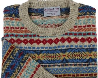 Fair Isle Sweater Etsy