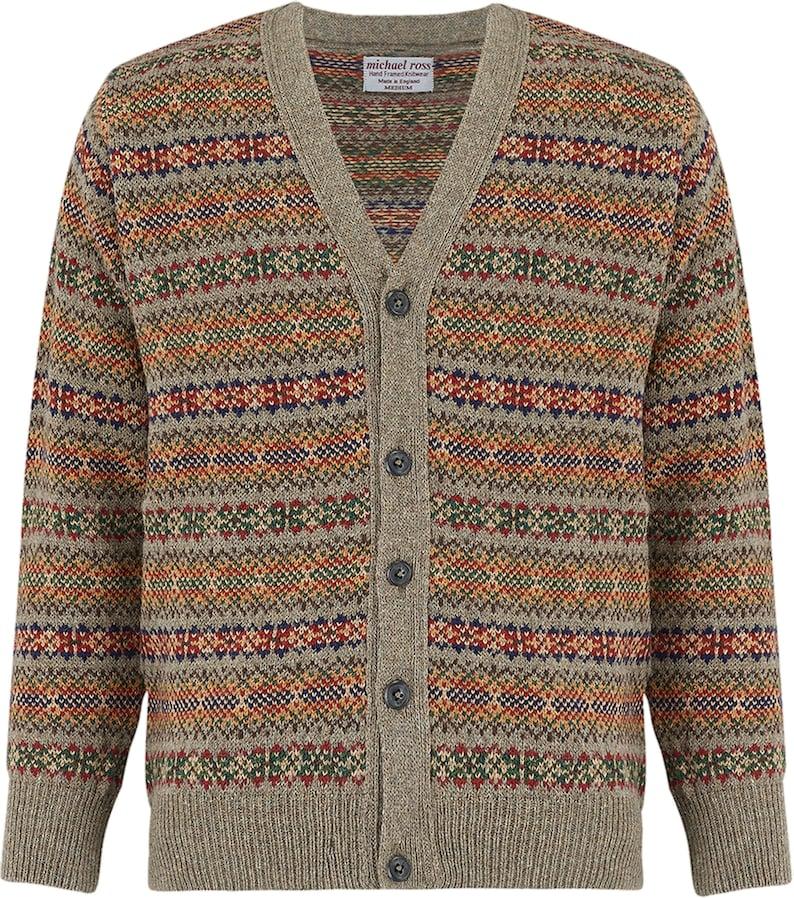 1930s Men's Fashion Guide- What Did Men Wear? Harvest V cardigan for men-0001-2904-F18 Truffle $287.91 AT vintagedancer.com