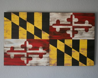 Maryland State Rustic Flag