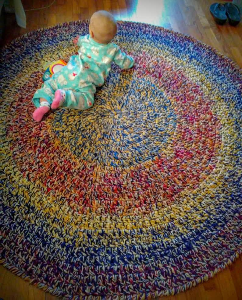 Jumbo Crochet Area Rug Handmade Rug Yarn Rug Crochet Rug Etsy
