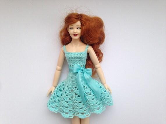 for Heidi Ott doll Dollhouse miniature dress blouse+skirt
