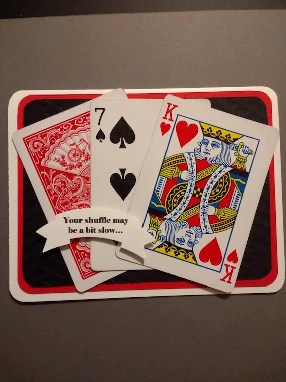 Playing Card Birthday Card Ace Deck Of Cards Red Black