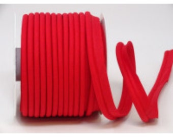 SCARLET RED BRAIDED VISCOSE CORD PIPING 4 mm x 2 metres