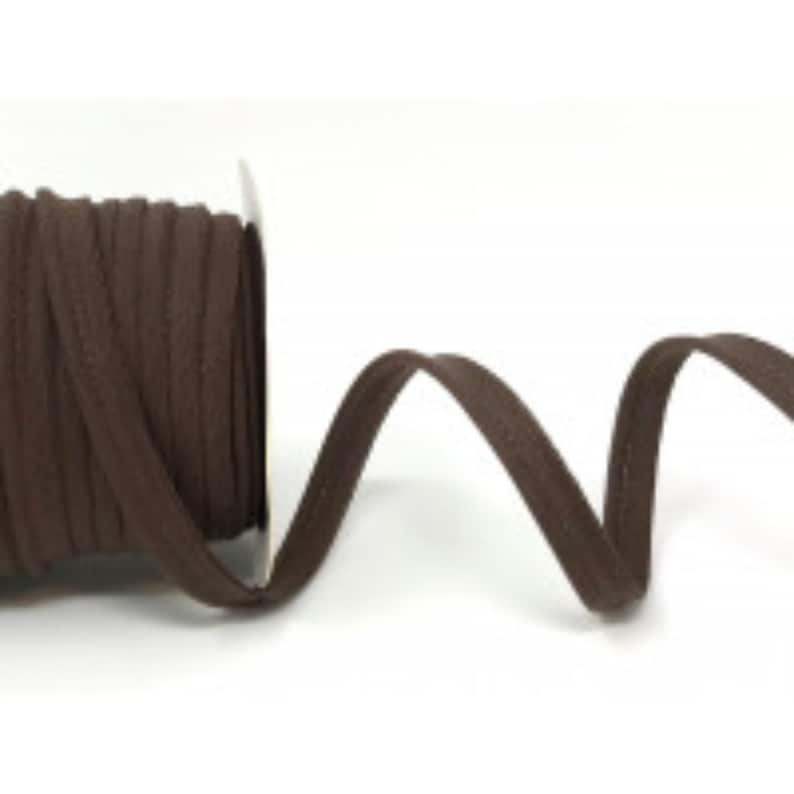 Piping Cord 10mm Wide Chocolate Brown Flanged Piping Trim