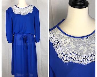 Royal Blue Vintage Dress