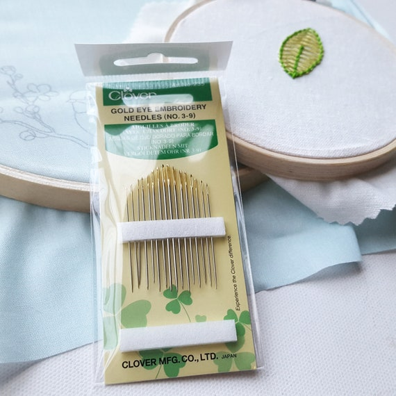 blunt tip fine 8 pack Clover embroidery needle set