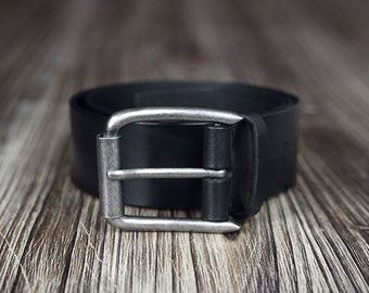Wide Belt - Mens Leather Belt - 4,5cm width - Mens Belt - gift for men