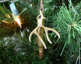 bbda86831e24c Bullet and Antler Christmas Tree Ornament | Hunting Ornament | Gun Lover's  Ornament | Deer Ornament | Outdoor Home Decor | Gift for Dad